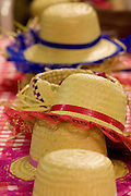 Belo Horizonte_MG, Brasil...Detalhe de chapeus de palha tipico de festa junina...Detail of typical panama hats of june party...Foto: VICTOR SCHWANER / NITRO