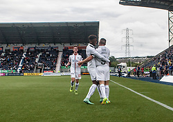 Falkirk's John Baird celebrates after scoring their third goal. Falkirk 6 v 1 Elgin City, Irn-Bru Challenge Cup Third Round, played 3/9/2016 at The Falkirk Stadium .