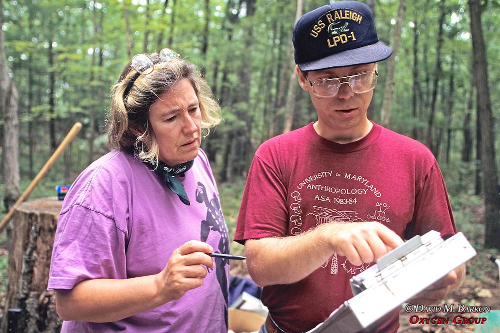 Marilee Rose & Marty Dudek Working On Dig