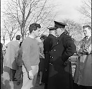 """Ban the Bomb"" protest march through Dublin.01.03.1961"