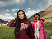 The bride's maids of a village wedding, Chapursan valley.