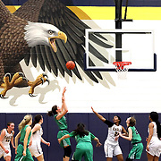 Ottawa Hills' Abbie Westmeyer (25), fourth from the left, takes a shot during a girls high school basketball game between Toledo Christian and Ottawa Hills at Toledo Christian in Toledo on Thursday, February 7, 2019. THE BLADE/KURT STEISS <br /> SPT OHTCgbk08p