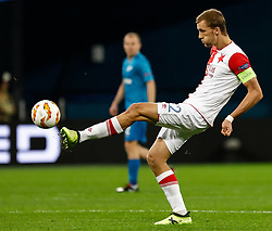October 4, 2018 - Saint Petersburg, Russia - Tomas Soucek of SK Slavia Prague in action during the Group C match of the UEFA Europa League between FC Zenit Saint Petersburg and SK Slavia Prague at Saint Petersburg Stadium on October 4, 2018 in Saint Petersburg, Russia. (Credit Image: © Mike Kireev/NurPhoto/ZUMA Press)