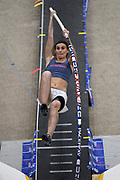 Kortney Ross places fifth in the elite men's competition at 13-7 1/4 (4.15m) during the National Pole Vault Summit, Friday, Jan. 17, 2020, in Reno, Nev.