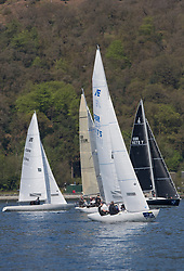 Lights winds dominated the Pelle P Kip Regatta  at Kip Marine weekend of 12/13th May 2018<br /> <br /> Etchells, Hero, 1175, Geoffrey Howison<br /> <br /> Images: Marc Turner