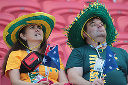 June 16, 2018 - Kazan, Kazan, Russia - Fans of Australia National team duringa  Group C 2018 FIFA World Cup soccer match between France and Australia on June 16, 2018, at the Kazan Arena in Kazan, Russia. (Credit Image: © Anatolij Medved/NurPhoto via ZUMA Press)