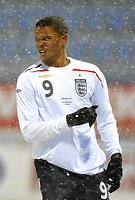 Fotball<br /> 27 mars 2009<br /> Landskamp<br /> Norge U21 - England U21<br /> Frazier Campbell , England<br /> Foto: Reidar Talset , Digitalsport