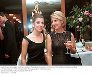 Lady Rose Alexander and her mother Countess Alexander of Tunis. Crillon Hotel debutante `Ball. 27 November 1999. © Copyright Photograph by Dafydd Jones<br />66 Stockwell Park Rd. London SW9 0DA<br />Tel 0171 733 0108