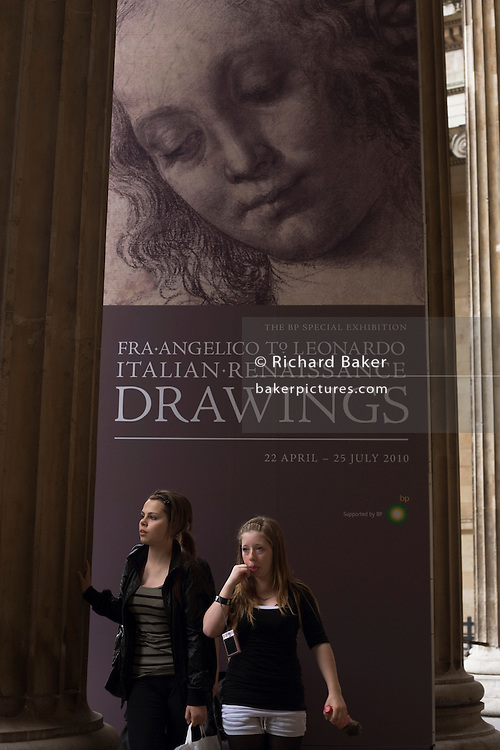 Girls visit a Renaissance art exhibition at London's British Museum.