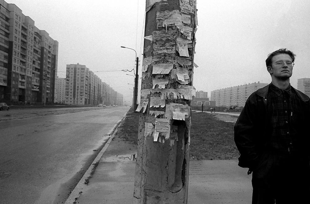 Street scene<br /> St Petersburg, Russia 1994