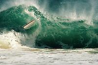 Portfolio Images. Bodyboarding Wipeout at Porthcurno Beach, Cornwall.