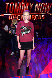Lara Stone during the Tommy Hilfiger Front row during London Fashion Week SS18 held at Roundhouse, Chalk Farm Rd, London. Picture Date: Tuesday 19 September. Photo credit should read: Ian West/PA Wire