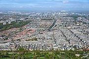 Nederland, Noord-Holland, Amsterdam, 09-04-2014; Amsterdam-Zuid,  overzicht Oud-West vanuit Vondelpark.<br /> Amsterdam old West nees from Vondel park.<br /> luchtfoto (toeslag op standard tarieven);<br /> aerial photo (additional fee required);<br /> copyright foto/photo Siebe Swart