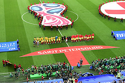 July 14, 2018 - Saint Petersbourg, Russie - SAINT PETERSBURG, RUSSIA - JULY 14 : Teams during the FIFA 2018 World Cup Russia Play-off for third place match between Belgium and England at the Saint Petersburg Stadium on July 14, 2018 in Saint Petersburg, Russia, 14/07/18 (Credit Image: © Panoramic via ZUMA Press)