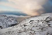 The landscape at North Cape (Nordkapp), ofter described as the most northerly point in Europe, in northern Norway