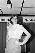 08/02/1966<br /> 02/08/1966<br /> 08 February 1966<br /> Fashion Show at I.C.I. Hawkins House. Lorna wearing a Pink/white spotted blouse by Deirdre.