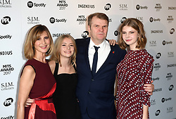CEO of Sony Music Entertainment Rob Stringer and family arriving for the 26th Annual Music Industry Trusts Awards held at the Grosvenor House Hotel, London. Picture credit should read: Doug Peters/Empics Entertainment