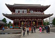 The Hozomon gate at the Senso-ji temple, Asakusa.