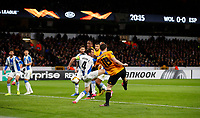 Football - 2019 / 2020 UEFA Europa League - Round of Thirty-Two, First Leg: Wolverhampton Wanderers vs. Espanyol<br /> <br /> Diogo Jota of Wolverhampton Wanderers scores at Molineux.<br /> <br /> COLORSPORT/LYNNE CAMERON
