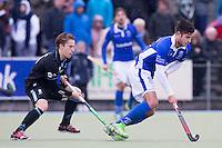 UTRECHT- Hockey -  Robbert Kemperman (r)  van Kampong met Rik van Kan van HGC   tijdens de hoofdklasse competitiewedstrijd tussen de mannen van Kampong en HGC (2-1). COPYRIGHT KOEN SUYK