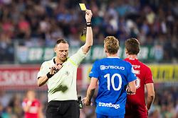 (L-R) referee Ed Janssen, Stef Nijland of PEC Zwolle, during the Dutch Eredivisie match between PEC Zwolle and FC Twente at the MAC3Park stadium on August 26, 2017 in Zwolle, The Netherlands