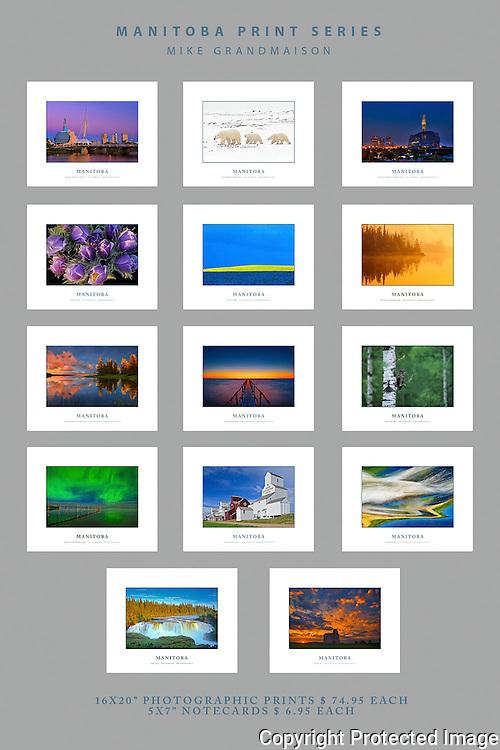 PRODUCT: Prints<br /> TITLE: Manitoba Print Series<br /> CLIENT: Mike Grandmaison