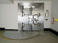 Closed vault door at the U.S. Federal Reserve Bank of Chicago