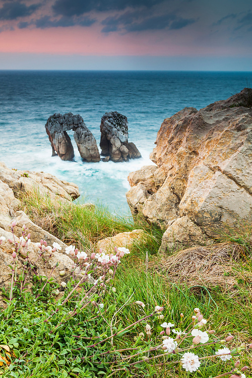 Cantabrian coastline at spring