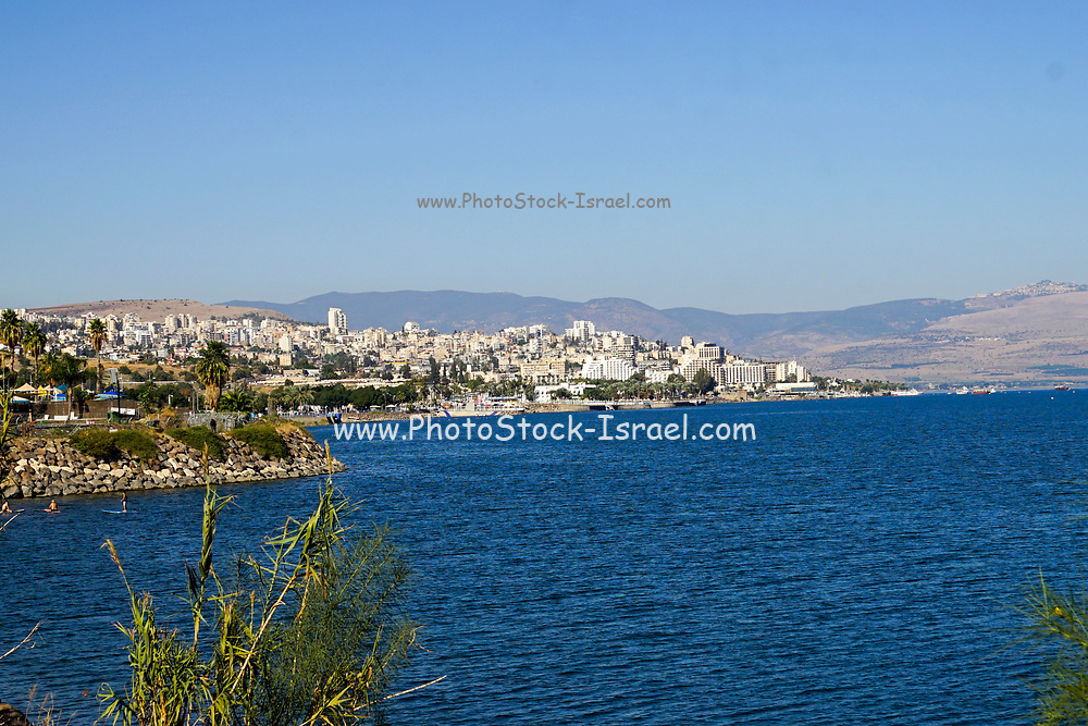The Promenade along the Sea of Galilee at Tiberias, Israel