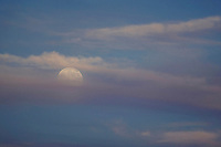 Full moon over Meredith Bay.  ©2013 Karen Bobotas Photographer