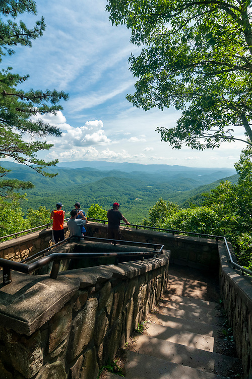 Look Rock Overlook at Look Rock on the Foothills Parkway in Great Smoky Mountains National Park in Walland, Tennessee on Wednesday, August 12, 2020. Copyright 2020 Jason Barnette
