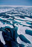 Rotten sea ice near Geographic North Pole, Arctic Siberia