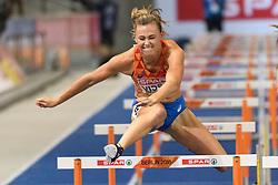 Het lukte net niet voor Nadine Visser, ze werd vierde op de 100m horden bij het EK atletiek in Berlijn op 9-8-2018