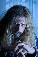 """7/7/05-LOS ANGELES-ROB ZOMBIE, writer/director of """"The Devil's Rejects"""" at the Four Seasons. David Sprague/Daily News  NOTE TO PREPRESS  LEAVE BLUE TINT!!!!!!!!!!!!!!!"""