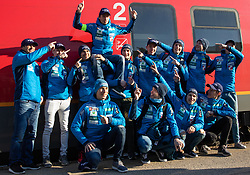 Slovenian Ski-Jumping Team during  press conference of Ski jumping Planica 2019, on March 20, 2019, in Slovenian railways, Slovenia. Photo by Matic Ritonja / Sportida