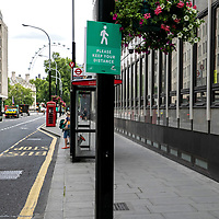 Please keep your distance street poster;<br />