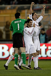 Lecce (LE), 16-01-2011 ITALY - Italian Soccer Championship Day 20 -  Lecce - Milan..Pictured: Ibrahimovic (M) dopo il gol..Photo by Giovanni Marino/OTNPhotos . Obligatory Credit