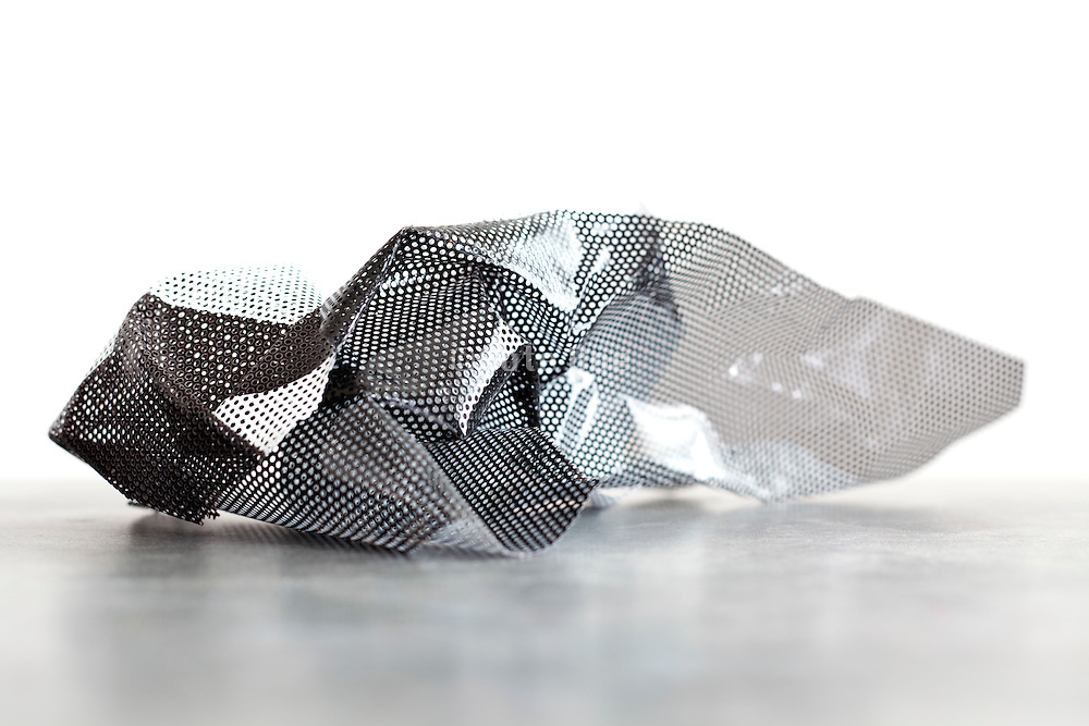 photographic abstraction with perforated form