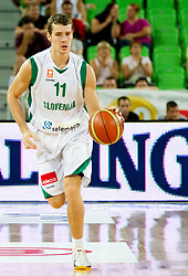 Goran Dragic of Slovenia during friendly match before Eurobasket Lithuania 2011 between National teams of Slovenia and Lithuania, on August 24, 2011, in Arena Stozice, Ljubljana, Slovenia. (Photo by Vid Ponikvar / Sportida)
