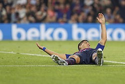 October 20, 2018 - Barcelona, Catalonia, Spain - FC Barcelona forward Lionel Messi (10) ask the penalty during the match FC Barcelona against Sevilla FC, for the round 9 of the Liga Santander, played at Camp Nou  on 20th October 2018 in Barcelona, Spain. (Credit Image: © Mikel Trigueros/NurPhoto via ZUMA Press)