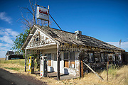 An old gas station in Kent, Oregon.