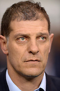 West Ham United manager Slaven Bilic looks on whilst the national anthem of France is played out in a mark of respect to the Paris attacks before k/o. Barclays Premier league match, Tottenham Hotspur v West Ham Utd at White Hart Lane in London on Sunday 22nd November 2015.<br /> pic by John Patrick Fletcher, Andrew Orchard sports photography.