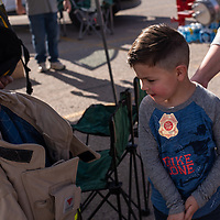 Eli Lovato, 4, gets to check out all of the information and gear that the Western Gallup Refinery has on display at the 6th Annual Preparedness and Public Safety Day, Saturday at the Rio West Mall.