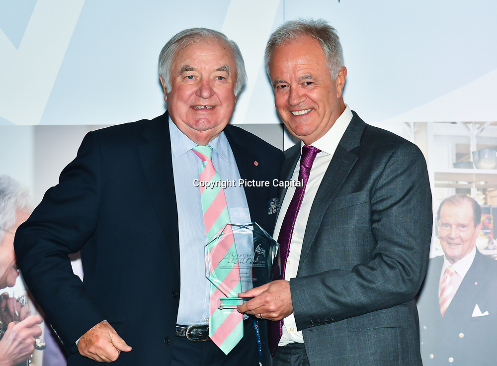 Martin Young Present Winner of Comedy – Jimmy Tarbuck OBE of the 7th annual Churchill Awards honour achievements of the Over 65's at Claridge's Hotel on 10 March 2019, London, UK.