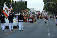The 2013 Colmo del Rodeo Parade gets under way near Salinas High School on Saturday night.