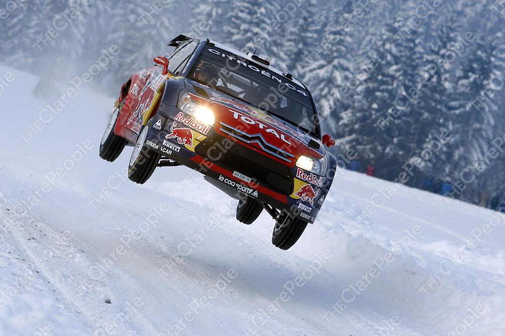 Sébastien Loeb and Daniel Elena?s on their way to winning Rally Norway