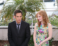 Ben Stiller and Jessica Chastainat the Madagascar 3: Europe's Most Wanted photocall at the 65th Cannes Film Festival. Friday 18th May 2012 in Cannes Film Festival, France.