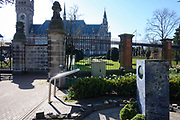 The Hague, South-Holland/Netherlands - 200323: The World Peace Flame near the Peace Palace in The Hague