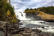 JÄMTLANDSBILDER <br /> Sveriges största vattenfall Tännforsen i höstskrud. <br /> Foto: Per Danielsson