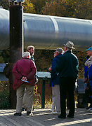 Visitors to Alaska learning about the Trans-Alaska Pipeline at the Alyeska Pipeline Service Company's Visitor Center between Fairbanks and Fox, Alaska.